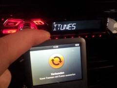 iTunes auf dem Pioneer DEH-1500UB
