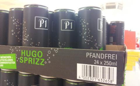 Pfandfreie P1 Hugo Sprizz Einwegdosen