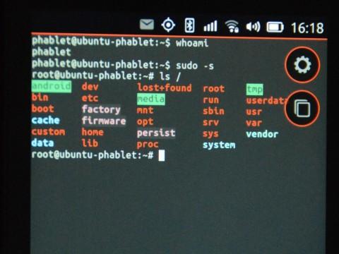 root auf dem Ubuntu Phone!